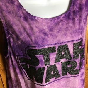 Disney Parks Star Wars Sparkle Tie Dye Tank Sz L